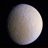 Saturn's Moon Rhea, Cassini Image Premium Photographic Print