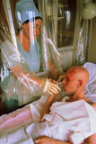 Chernobyl Cancer Patient In Sterile Hospital Room Photographic Print by Ria Novosti