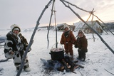 Koryak Children, Russian Far East Photographic Print by Ria Novosti