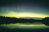 Aurora Borealis Display Reflected Upon Water Photographic Print by Pekka Parviainen