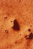 False-colour of Face on Mars Photographic Print