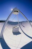 Man on a VLBA Radio Telescope, Owens Valley, USA Photographic Print by David Nunuk