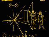 Coloured Pictorial Plaque on Pioneer 10 And 11 Premium Photographic Print