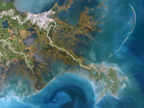 Mississippi Delta, Satellite Image Photographic Print by  PLANETOBSERVER