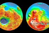 3-D Topography of Mars Photographic Print
