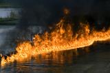 Oil Fire Photographic Print by Rapson Rapson