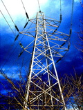 Electricity Pylon Photographic Print by David Nicholls