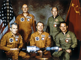 Apollo-Soyuz Project Crew, 1975 Photographic Print by Ria Novosti