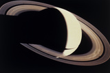 Voyager Photo of Saturn And Its Rings Photographic Print by  NASA