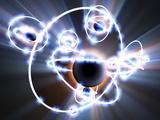 Lithium Atoms, Computer Artwork Fotografisk tryk af  PASIEKA