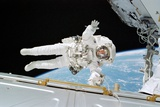ISS Construction Space Walk Photographic Print by  NASA