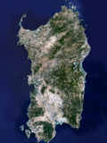Sardinia, Satellite Image Photographic Print by  PLANETOBSERVER