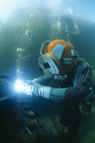 Welding Underwater Photographic Print by Alexis Rosenfeld