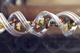 DNA Molecule, Artwork Print by Phantatomix