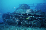 Tank From a World War II Shipwreck Photographic Print by Alexis Rosenfeld