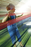 Weaving Loom Operator Photographic Print by Ria Novosti