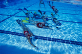 Underwater Hockey Photographic Print by Alexis Rosenfeld