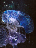 Conceptual Art of Brain & Nerve Cells In Dementia Photographic Print by Hans-ulrich Osterwalder