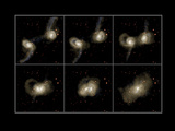 Galaxy Collision Model Premium Photographic Print by Max Planck