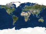Whole Earth, Satellite Image Fotografisk tryk af  PLANETOBSERVER