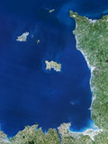 Channel Islands, Satellite Image Prints by  PLANETOBSERVER