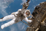 Astronaut Fuglesang Performing Spacewalk Photographic Print by  NASA