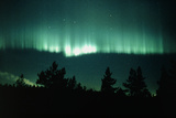 View of An Aurora Borealis Display Photographic Print by Pekka Parviainen