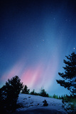 View of a Spectacular Aurora Borealis Display Photographic Print by Pekka Parviainen