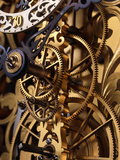 Internal Gears Within a Clock Premium Photographic Print by David Parker