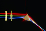 Refraction of Light by Lenses & a Prism Photographic Print by David Parker