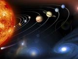 Solar System Planets Fotografisk tryk af NASA