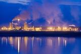 Oil Refinery At Night Photographic Print by David Nunuk
