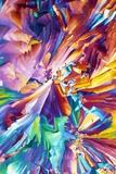 Glutamic Acid Crystals, Light Micrograph Fotografisk tryk af David Parker
