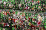Crushed PET Drink Bottles At Recycling Facility Posters by David Nunuk