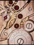 David Parker - Internal Cogs And Gears of a 17-jewel Swiss Watch Fotografická reprodukce