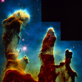 Gas Pillars In Eagle Nebula Photographic Print by  NASA