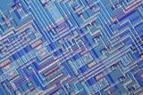 Microchip, Light Micrograph Photographic Print by  PASIEKA