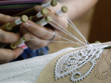 Lace Production Using Bobbins Print by Ria Novosti