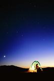 Starry Sky And Stargazer Photographic Print by David Nunuk
