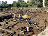 Archaeological Site, Novgorod, Russia Photographic Print by Ria Novosti