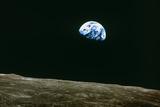 Lever de terre vu de la lune, Apollo 8 Papier Photo par  NASA