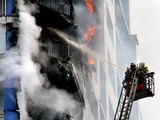 Firefighters Extinguishing a Fire Photographic Print by Ria Novosti
