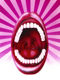 Artwork of Open Mouth Showing Set of Healthy Teeth Photographic Print by Hans-ulrich Osterwalder