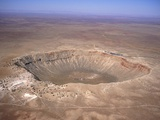 Aerial View of Meteor Crater, Arizona Photographic Print by David Parker