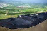 Oil Plant Settling Pond Photographic Print by David Nunuk