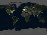Whole Earth At Night, Satellite Image Premium Photographic Print by  PLANETOBSERVER