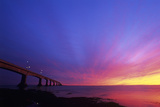 Confederation Bridge At Sunset Poster by David Nunuk