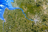 True-colour Satellite Image of Hamburg, Germany Photographic Print by  PLANETOBSERVER