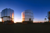 Very Large Telescope Being Built At Cerro Paranal Print by David Parker