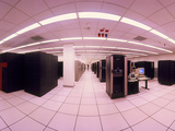 Fish-eye Lens View of NERSC's Main Computing Room Photographic Print by David Parker